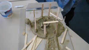 another idea of sacred space as a clay model